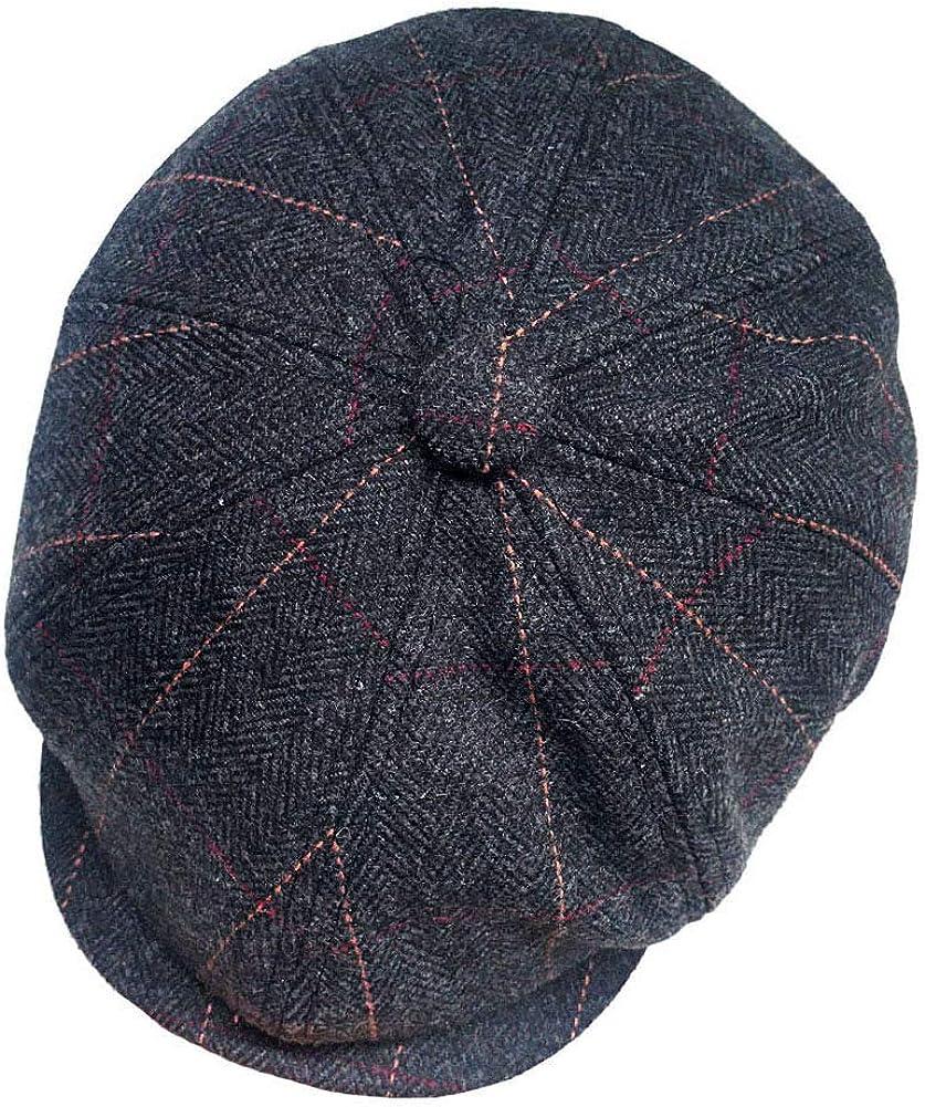 Newsboy Hats for Men Classic 8 Panel Wool Blend Applejack Gatsby Peaky Blinders Ivy Hat