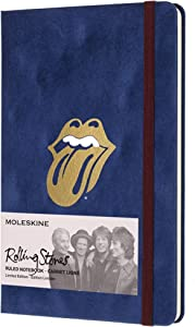 "Moleskine Limited Edition The Rolling Stones Notebook, Hard Cover, Large (5"" x 8.25"") Ruled/Lined, 240 Pages"