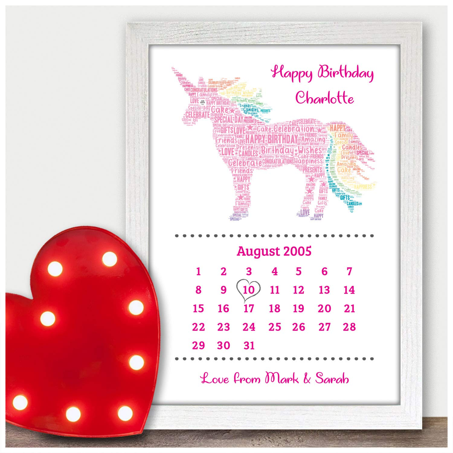 Personalised UNICORN Birthday Gifts For Girls Her Kids 5th 6th 9th 10th 11th 12th 13th 16th 18th Daughter Mum Niece Granddaughter Best