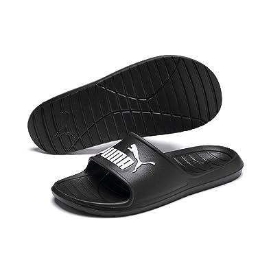 12c659a85a5 PUMA Unisex s Divecat v2 Black White Sandals-12 UK India (47 EU ...