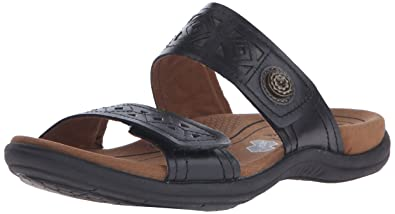 Cobb Hill Rockport Women's REVsoul Flat Sandal, Black/Multi, ...