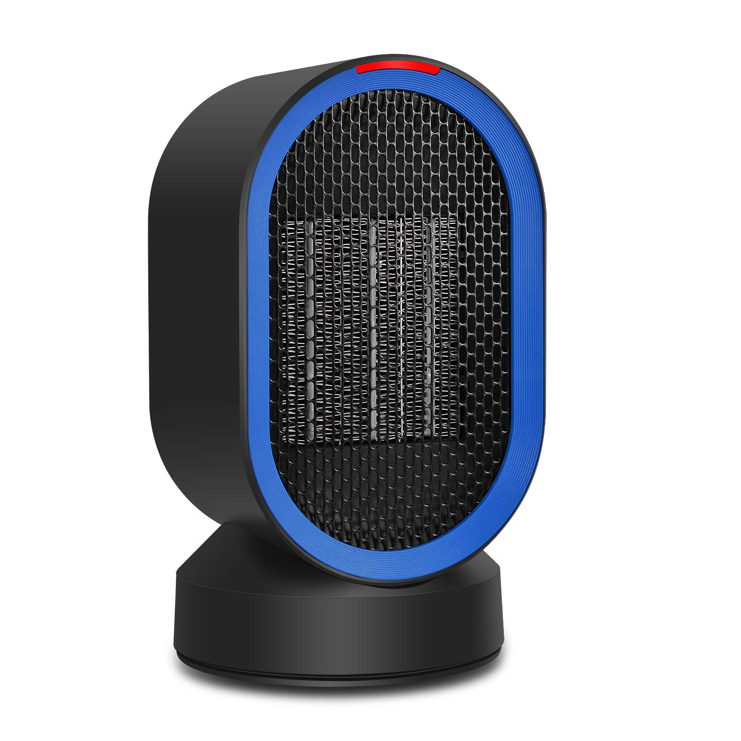 Personal Space Heater Fan Portable Ceramic Desktop Oscillating Electric Heater for Home Office Desktop Living Room Bedroom Night Stand ADDSMILE