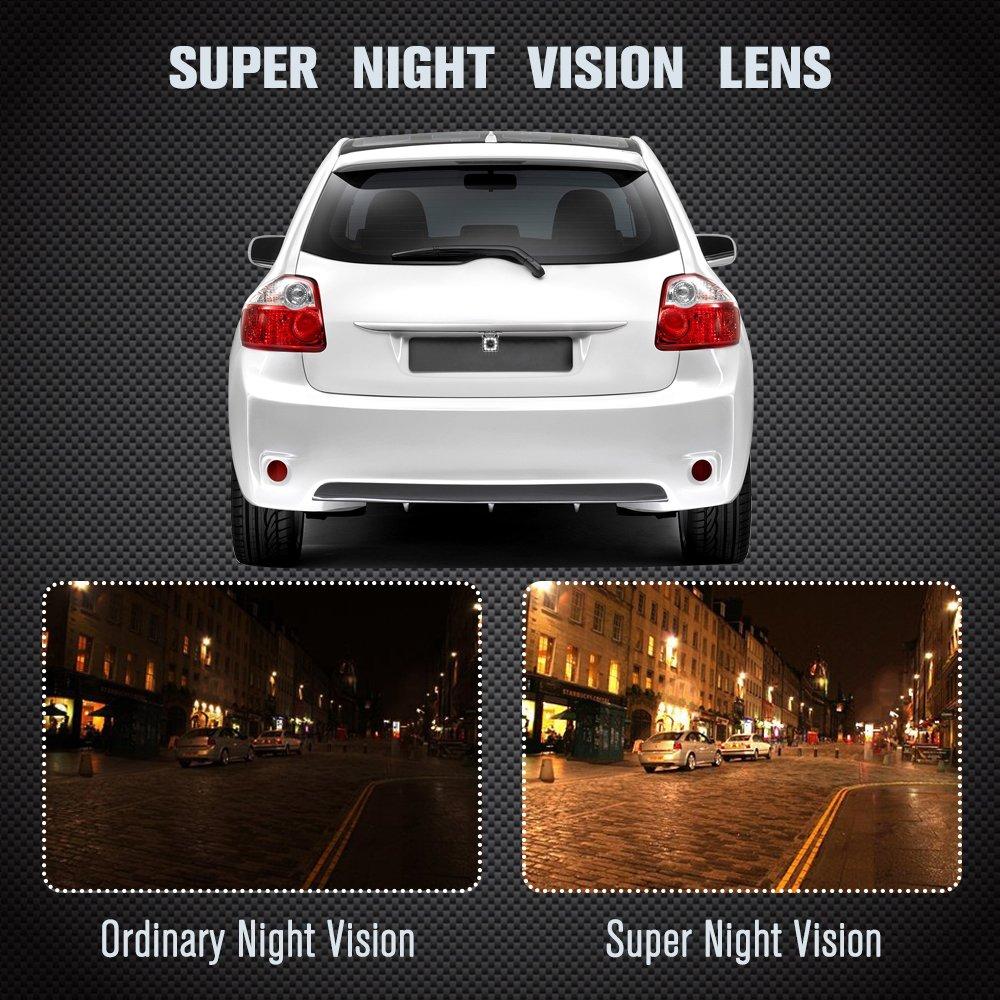 angolo 170/° Telecamera per retromarcia auto con visione notturna impermeabile