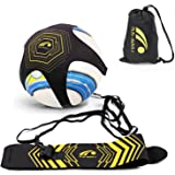 BROTOU Solo Soccer Trainer, Soccer/Football Practice Equipment - Soccer Ball Kick Training Practice Assistance Trainer Adjustable WaistBelt for Kids and Adults-Fits Ball Size 3, 4, and 5