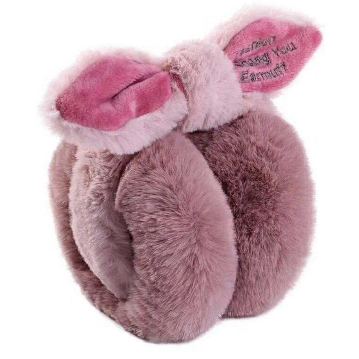 Women's Winter Warm Earmuffs Cute Bowknot Folding Ear Earwarmer Luxurious Faux Fur Velvet Earmuffs
