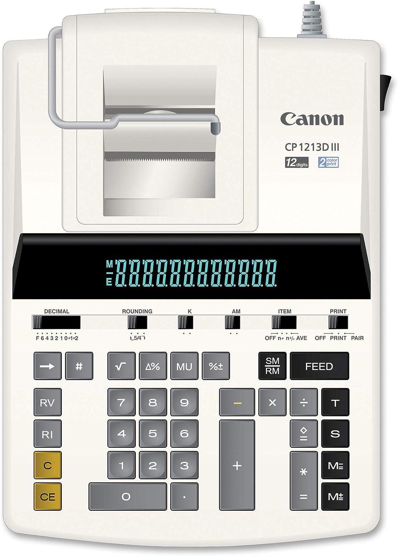 Canon CP1213DII CP1213D II CP-1213D II Calculator Ink Ribbon Black//Red 2 PACK