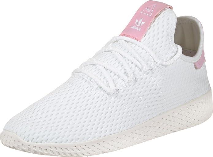 adidas Damen PW Tennis HU Weiß Mesh Sneaker 44: