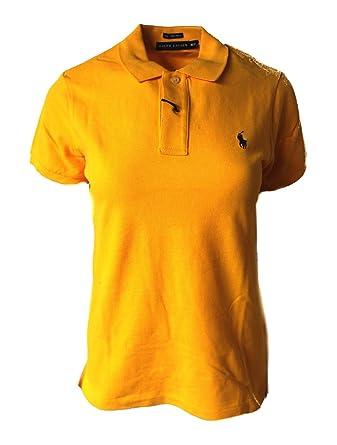 Polo_Ralph Lauren - Polo - para Mujer Amarillo Amarillo XS: Amazon ...