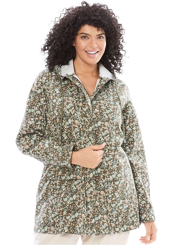 ed72848501793 Woman Within Women s Plus Size Light Hooded Jacket  9Napu0609757 ...