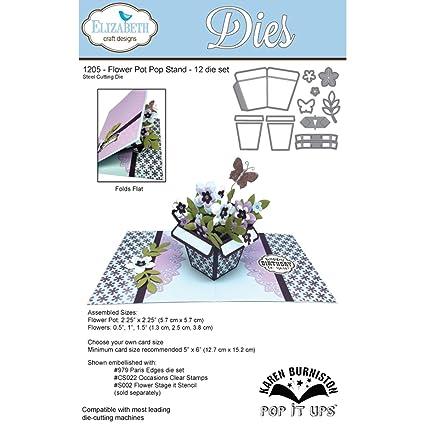 Elizabeth Craft Designs Flower Pot Pop Stand Die Set Grey Amazon