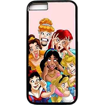 The Case Guru - Carcasa para iPhone 6, diseño de princesas Disney haciendo muecas