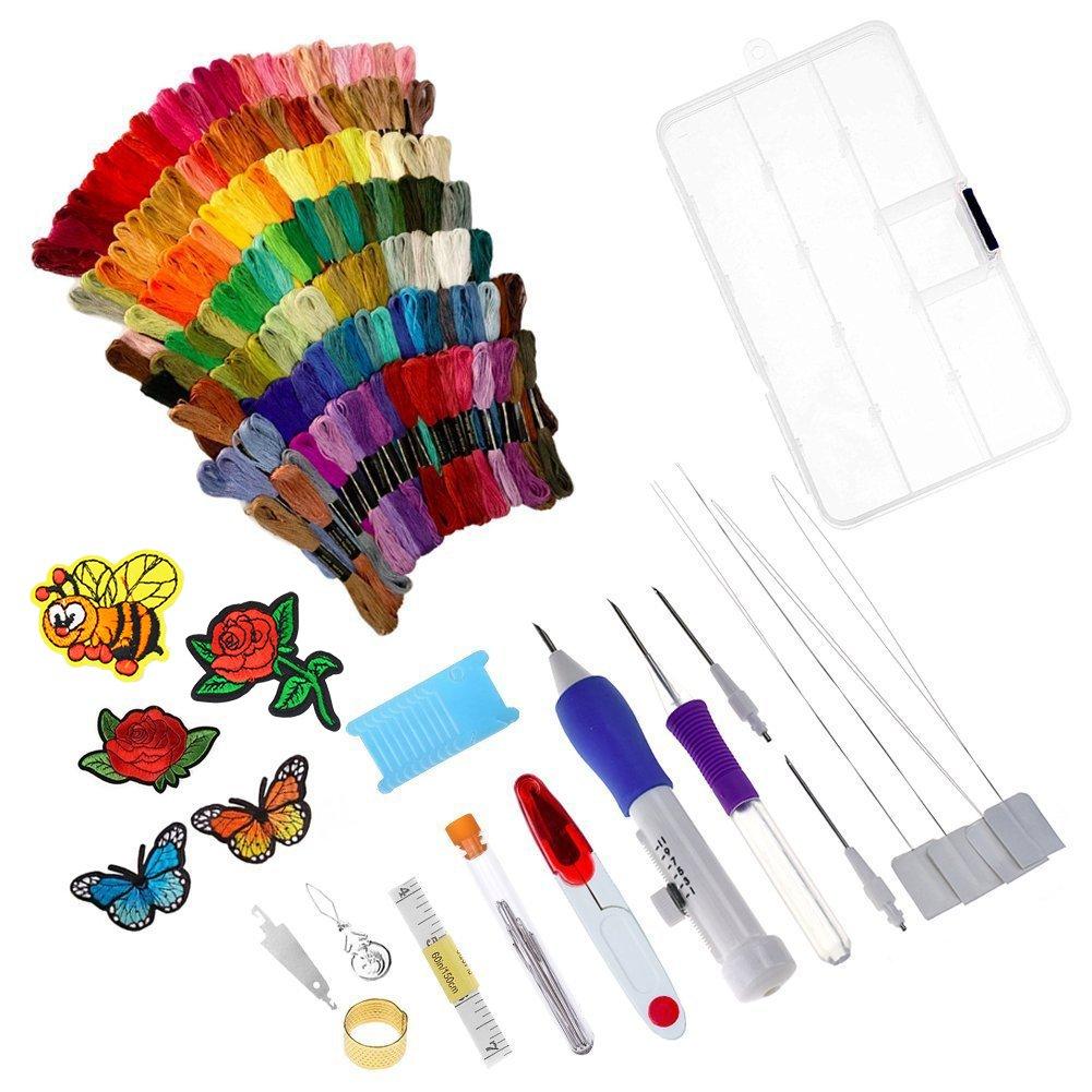 138 agujas de punzón con bordado mágico, juego de bolígrafos de ...