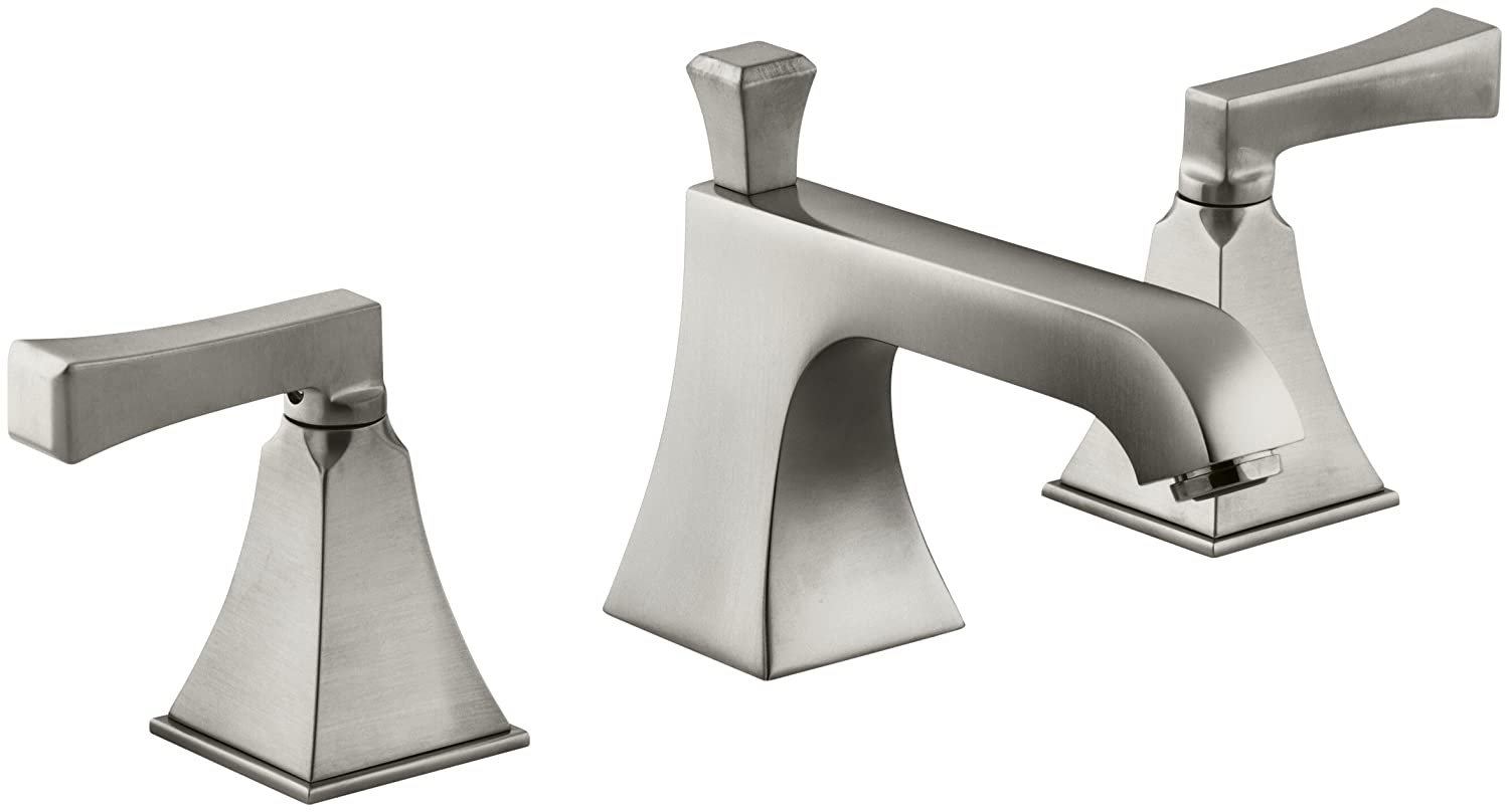 Kohler Memoirs ® Widespread洗面所蛇口with Statelyデザイン K-454-4V-BN 1 Vibrant Brushed Nickel Vibrant Brushed Nickel B000MF53H8