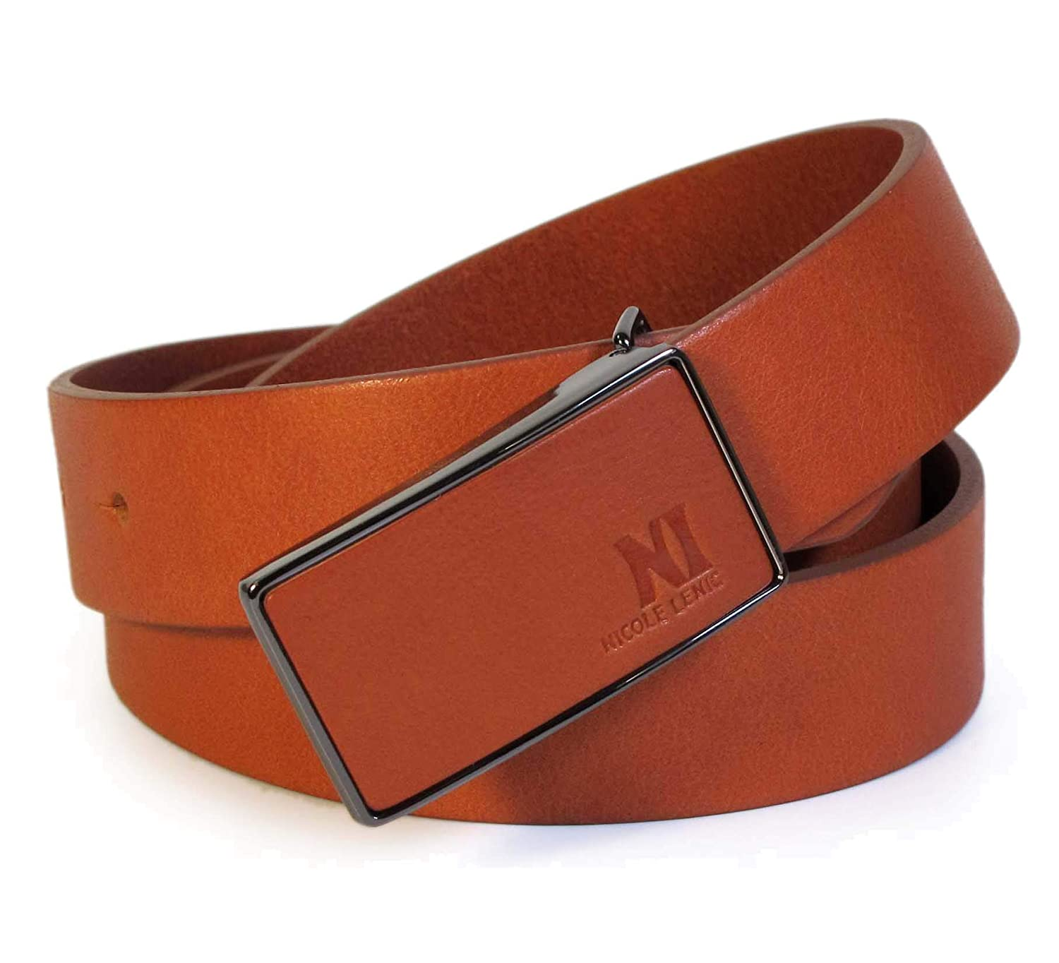 CM0 Mens Real Genuine Leather Tan Brown Belt 1.1 Wide S-L Thick Casual Jeans