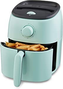 Dash DCAF200GBAQ02 Tasti Crisp Electric Air Fryer Oven Cooker with Temperature Control, Non-stick Fry Basket, Recipe Guide + Auto Shut Off Feature, 1000-Watt, 2.6Qt, Aqua