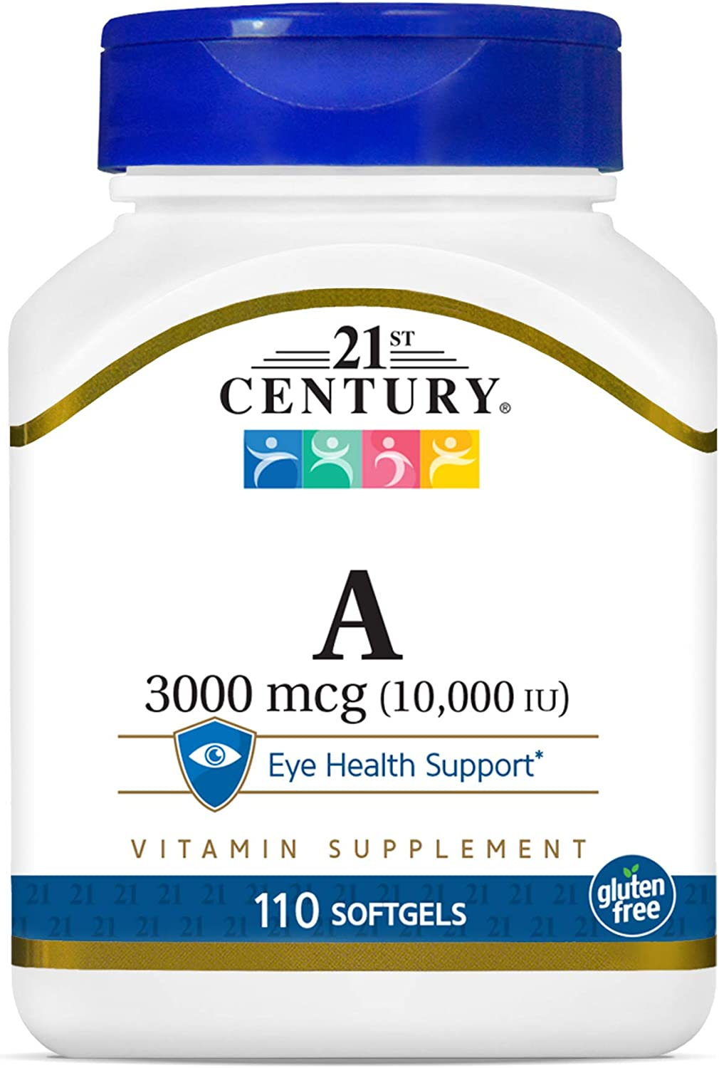21st Century A 10, 000 I.U. Softgels, 110 Count