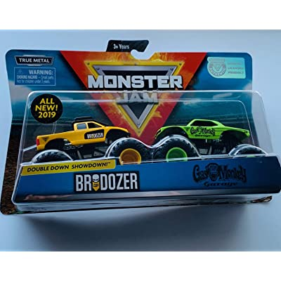 Spin Master Monster Jam Double Down Showdown 1:64 Scale, Brodozer vs Gas Monkey Garage: Toys & Games