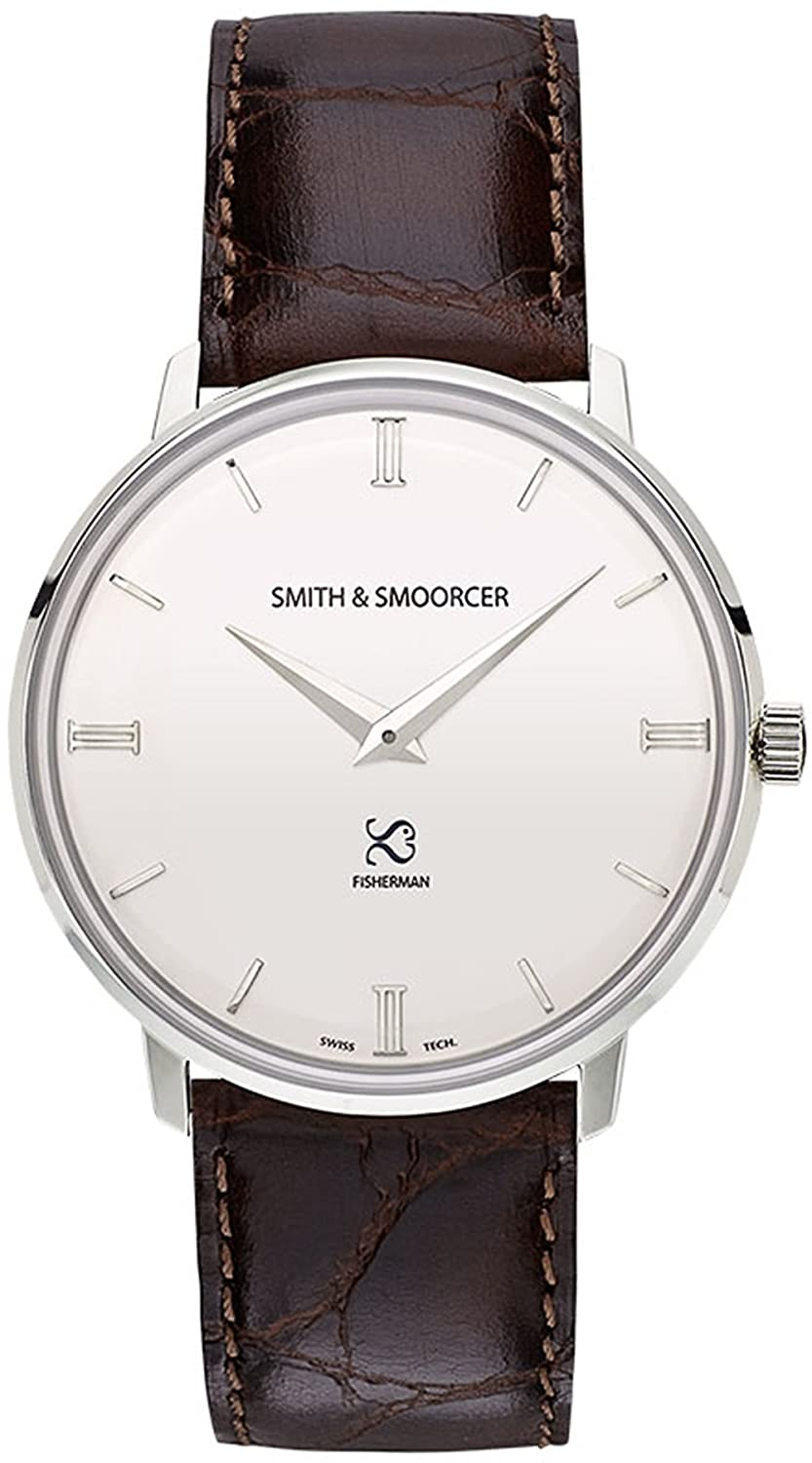 Smith & Smoorcer Fisherman Snowy Luxury Coffee Herr uhren F-1516-LUX-P-B-01