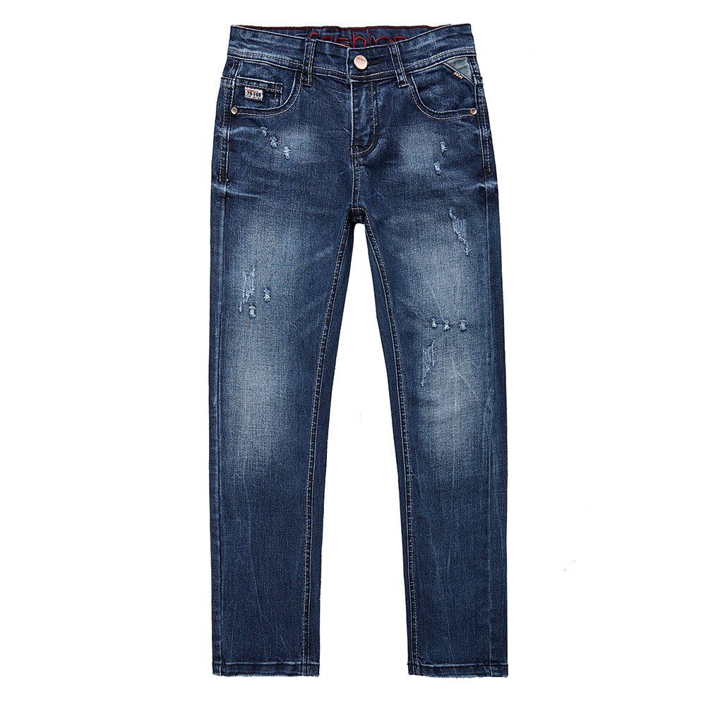 big boys stretch slim fit Skinny denim Ripped Distressed Jeans trouser 14 years pants with holes for children's