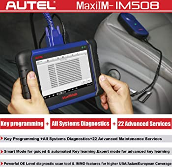 Autel IM508 provides all the basic service and diagnostic functions you'd get from a typical high-end OBD2 scan tool.