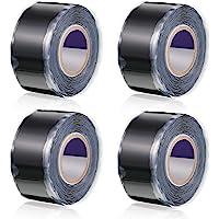 4 Rolls Self-fusing Silicone Tape Grip Self Bonding Repair Tape and Wrap Repair Tape Rubber Sealing Tape Multi-Purpose…