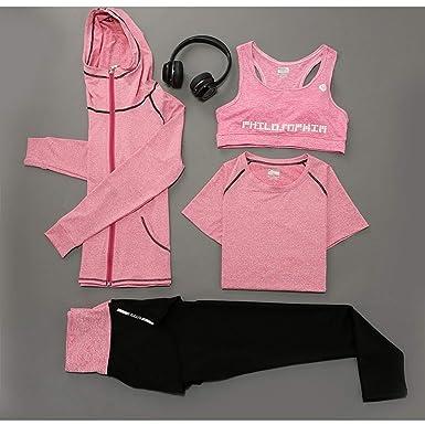 Amazon.com: Conjunto de ropa de ejercicio, traje de yoga ...