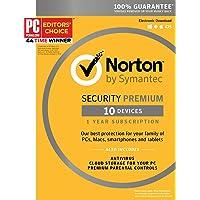 Symantec Norton Security Premium 10 Devices 1 Year Subscription Deals