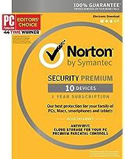 Symantec Norton Security Premium – 10 Devices – 1 Year Subscription [PC/Mac/Mobile Key Card]