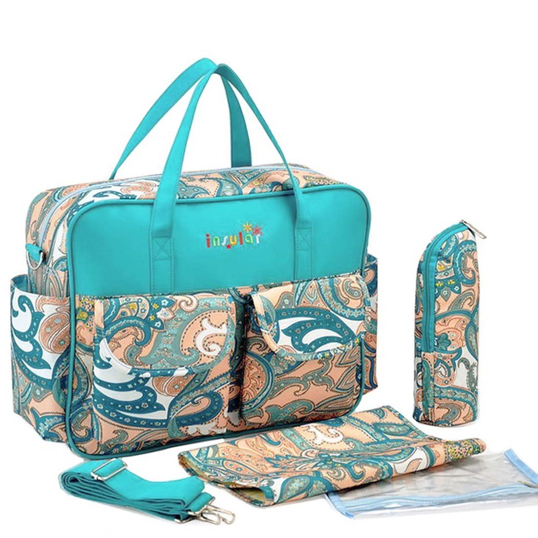KF Baby Rox Diaper Bag Value Set, with Crossbody bag strap, Changing Pads, more kilofly