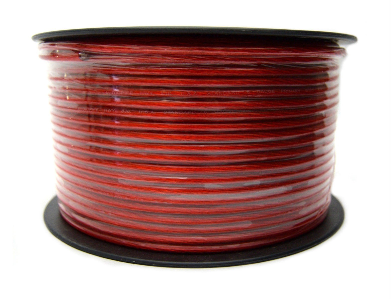 8 Gauge Red Power Primary Ground Wire 500 Feet Copper Mix Car Audio Amplifier