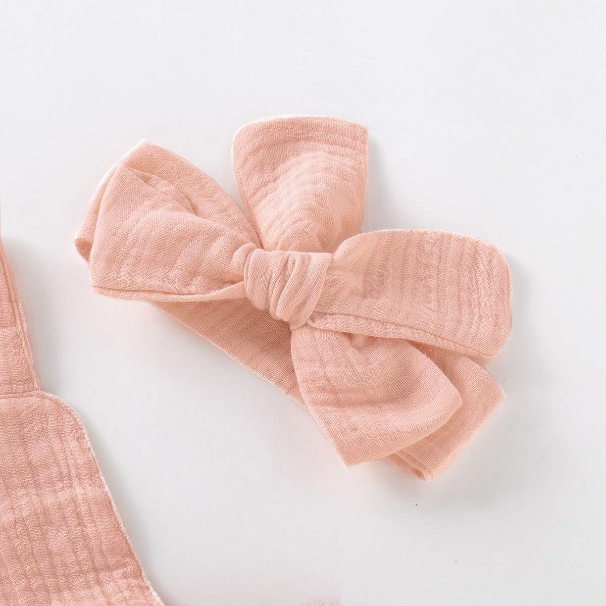 BabiBeauty Twins Baby Girls Sleeveless Romper Infant Girls Ruffles Jumpsuit Onesies with Headband