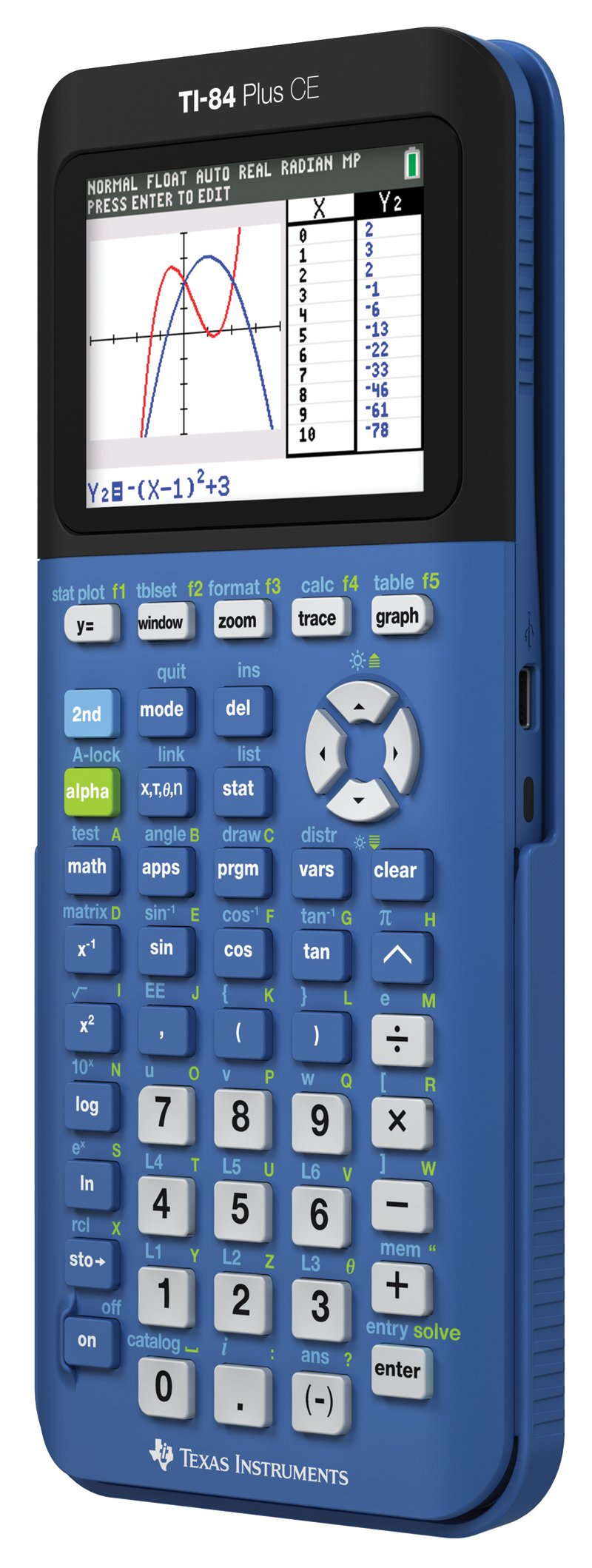 Texas Instruments TI-84 Plus CE Blueberry Graphing Calculator by Texas Instruments (Image #2)
