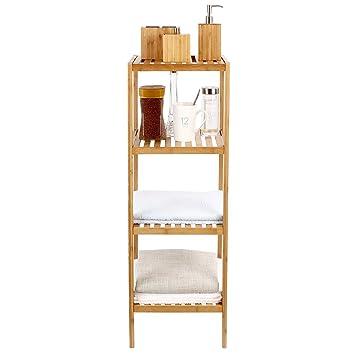 Simlive Bambus Badezimmer Aufbewahrung Regal Vierstockig Freistehend