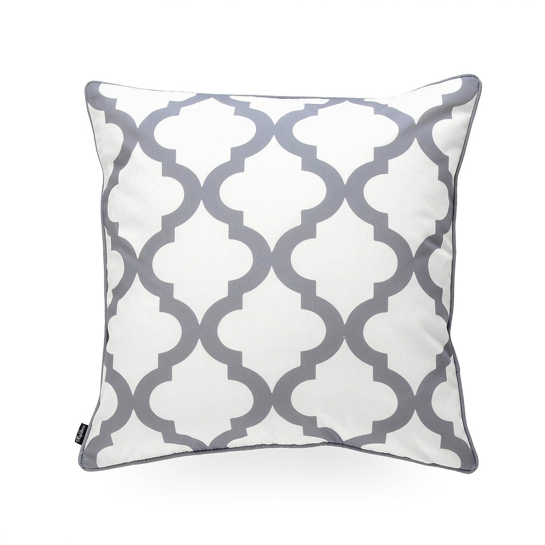Hofdeco Decorative Throw Pillow Cover Indoor Outdoor Water Resistant Canvas Modern Grey City Maze 18x18 03-0207-03