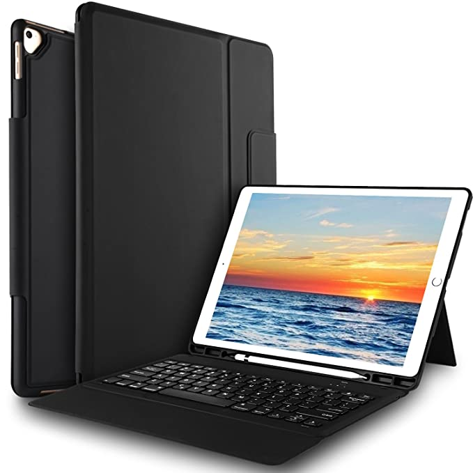 ed3a13af1cf IVSO Case with Keyboard for Apple iPad Pro 12.9, one-Piece Ultra-Thin