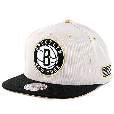 a2d16afb518 Mitchell   Ness Men s NBA Brooklyn Nets Gold Tip Snapback Hat