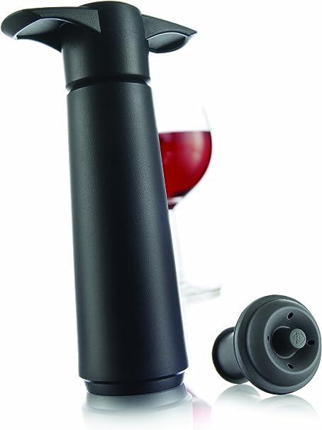 Nouvelle bouteille de vin Saver Vacuum Bouchon Preserver Saver Vacu vin Lot de 6-Noir