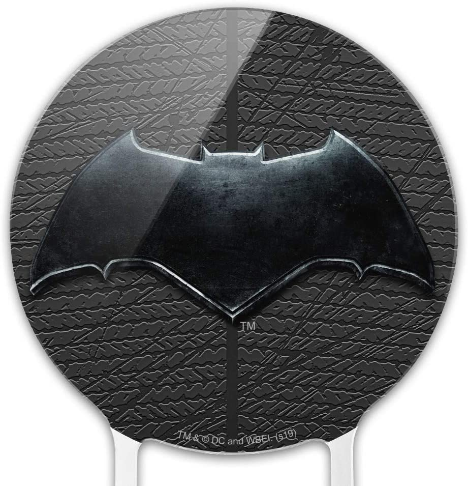 GRAPHICS /& MORE Acrylic Justice League Movie Batman Logo Cake Topper Party Decoration for Wedding Anniversary Birthday Graduation