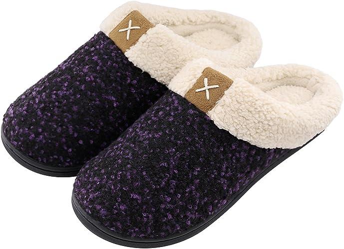 Amazon Com Ultraideas Women S Cozy Memory Foam Slippers Fuzzy