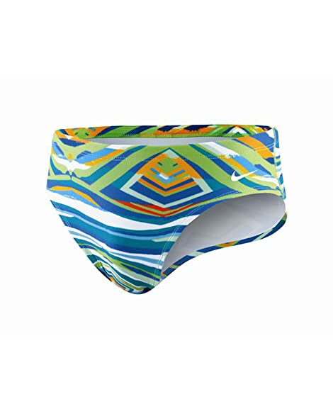 Nike Swim TFSS0030 Mens Team Foil Skin Brief, Action Green-34