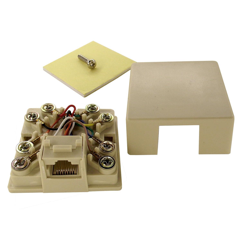 Shaxon Ul133w B Rj31x Jack Rj45 To Screw Terminals Wiring Diagram Computers Accessories