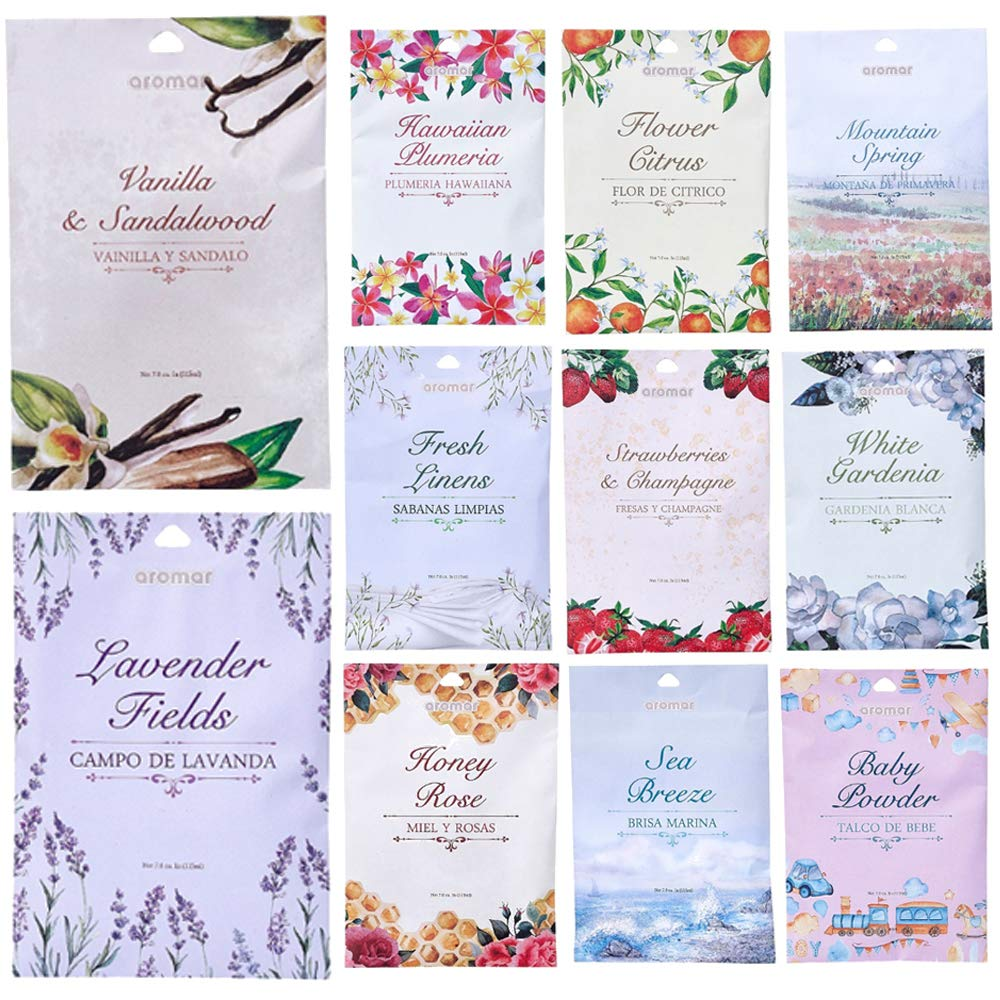 10 Scented Fragrance Sachet Pouch Air Freshener Wardrobe Home Drawer Perfume Bag by AllTopBargains (Image #1)