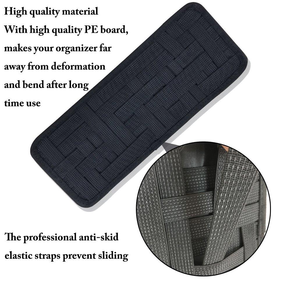 para almacenamiento Organizador para el parasol del coche antideslizante accesorios digitales tejido el/ástico para soporte de gafas de sol de combustible tarjeta de aparcamiento SourceTon