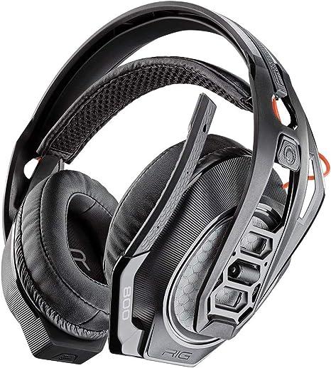 Plantronics RIG 800HS Auricular con micrófono Monoaural Diadema Negro - Auriculares con micrófono (Consola de Juegos, Monoaural, Diadema, Negro, Playstation 4, Inalámbrico y alámbrico)
