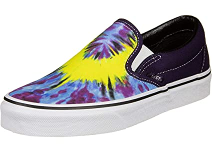 5947a08a7721 Amazon.com: Vans Classic Slip-On Mysterioso/White Skate/Casual ...