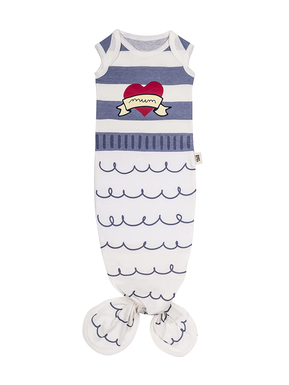 Baby Bites ORIGINAL - Pijama Babygown AZUL MARINERO - Tejido 100% Algodón orgánico