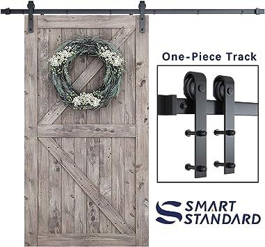 American Made 8ft Double Door Classic Sliding Barn Door Hardware Black