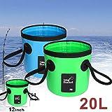 Barriles Plegables Para Autos Cubo Plegable Tanque De Agua Plegable Multifuncional Para Pesca, Camping, Senderismo Y Viajes De ConduccióN (Negro 20L)
