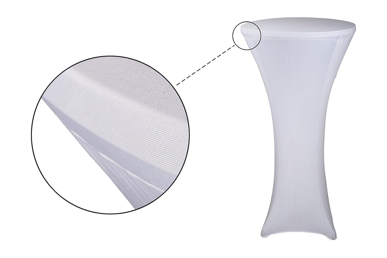 LXDUR Bianco Colore Elasticizzato Slipcover tovaglia per DIA60/CM Top 100/ /120/cm Altezza Tavolo da Bar con 4/Gambe Base