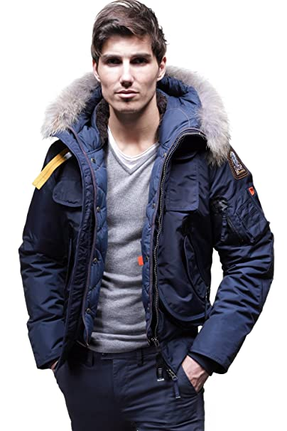 Parajumpers Men's Gobi Bomber Jacket in Marine (small) (Large)